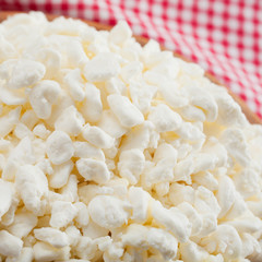 cottage cheese close up