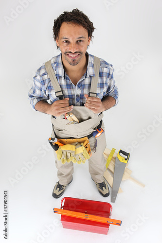 Portrait of a carpenter