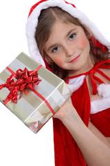 little girl celebrating Christmas