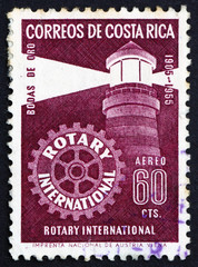 Postage stamp Costa Rica 1956 Lighthouse, Rotary International