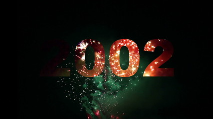 Count from 2000 to 2013 reveals with fireworks