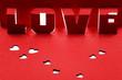 LOVE paper cut