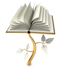 Development of Education. Open book. Conceptual illustration