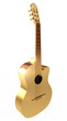 Golden Acoustic Guitar. Conceptual illustration