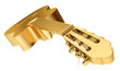 Gold Acoustic Guitar isolated, conceptual illustration