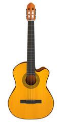 Classical acoustic guitar. 3d render