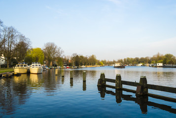 View on the river Amstel, Amsterdam, the Netherlands