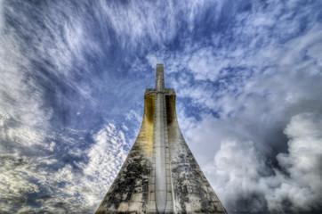 Back of the monument to Vasco da Gama in Lisbon