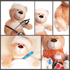 kranker Teddy - Collage
