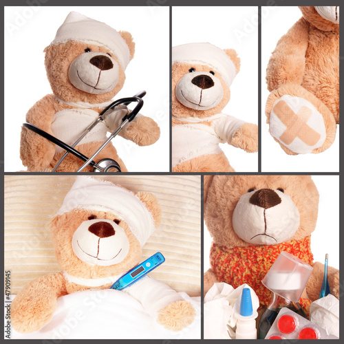 kranker Teddy - Collage