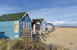 Vibrant Luxury Beach Huts at Mudeford Spit