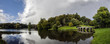 Panorama of Stourhead Gardens in Wiltshire