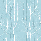 Fototapety trees seamless