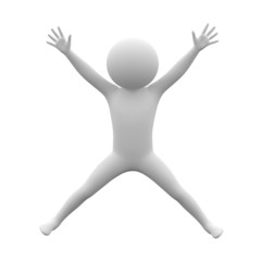 3d human - jump