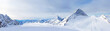 Leinwanddruck Bild - Ski resort Zillertal Hintertuxer Glacier. Austria