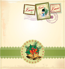 New year and christmas vintage design