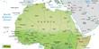 Inselkarte vom Norden Afrikas