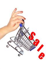 Shopping discount concept