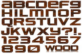 Grunge Metal Letters and Numbers