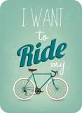 Fototapety Vintage Retro Bicycle Background