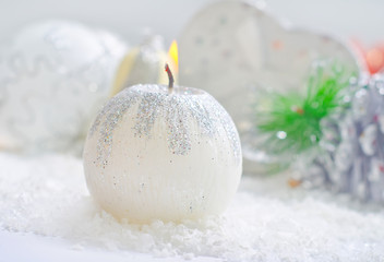candle and other christmas decoration