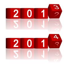 2012-2013-2014 passing years, vector