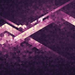 geometric background made with triangles from white to purple