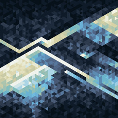 geometric background made with triangles from white to dark blue