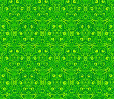 Green abstract lacy curls seamless pattern