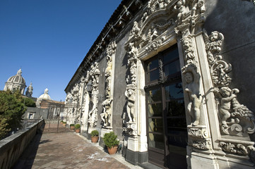 europe, italy, sicily, catania, biscari palace