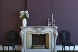 Fototapety modern fireplace