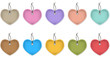 Hanging heart labels