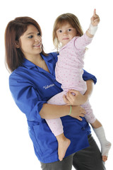 Hospital Voluteer with Child