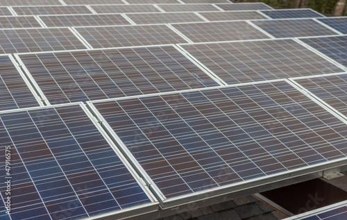Photovoltaic panels above the roof