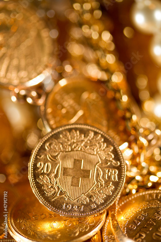 Twenty Swiss Francs coins