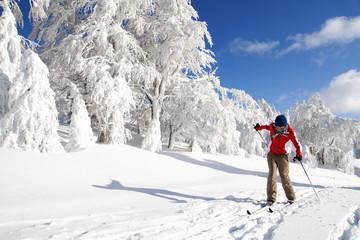 Cross-country skiing tumble