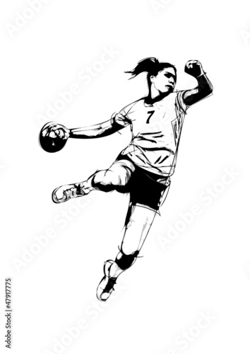 woman handball player