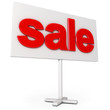 Sale sign. Icon isolated on white background. 3d render