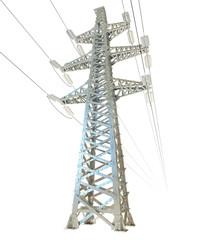 High voltage post. 3d render
