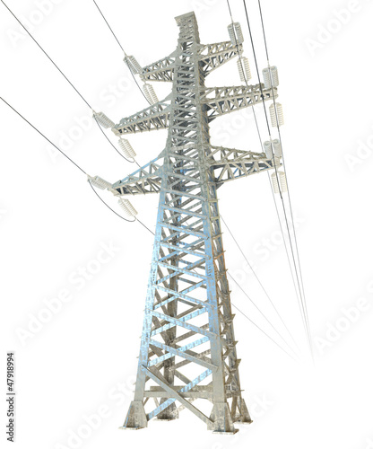 High voltage post. 3d render