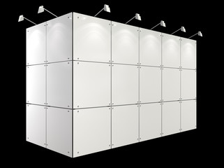 white exhibition booth