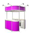 pink exhibition module