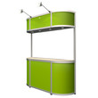 green counter solated on white