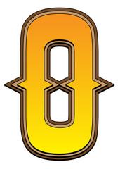 Western alphabet letter - O