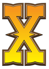 Western alphabet letter - X