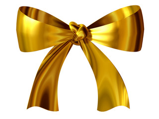 golden, decorative bow, ribbon or loop