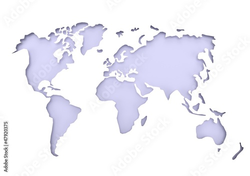 light blue world map
