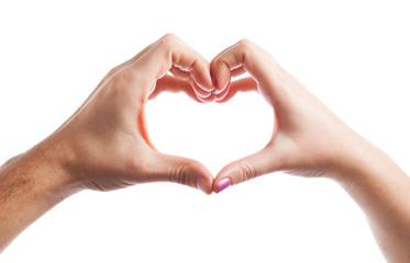 Hand created heart