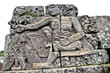 Stone craft in Candi Jago Temple near by Malang on Java, Indone