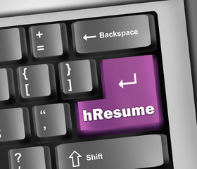 "Keyboard Illustration ""hResume"""